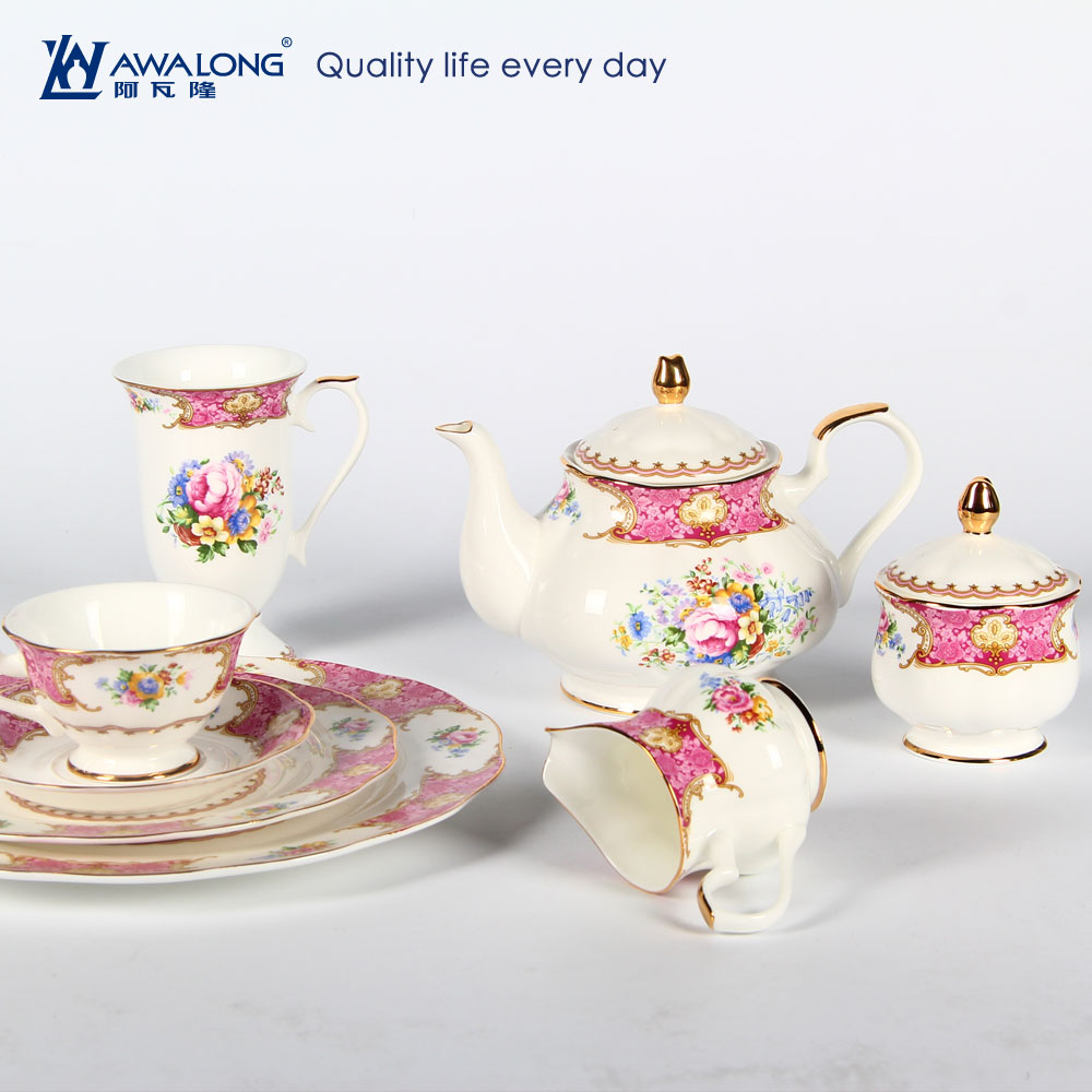 English rose royal style bonechina countryware dinnerware set / luxury grace designs ceramic tableware tea set