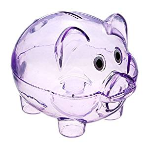 Hot Sale Clear PIGGY Bank Coin Penny Cents Bank Money Saving Box Plastic Cash Safe Box Kid Pig Toy Gift