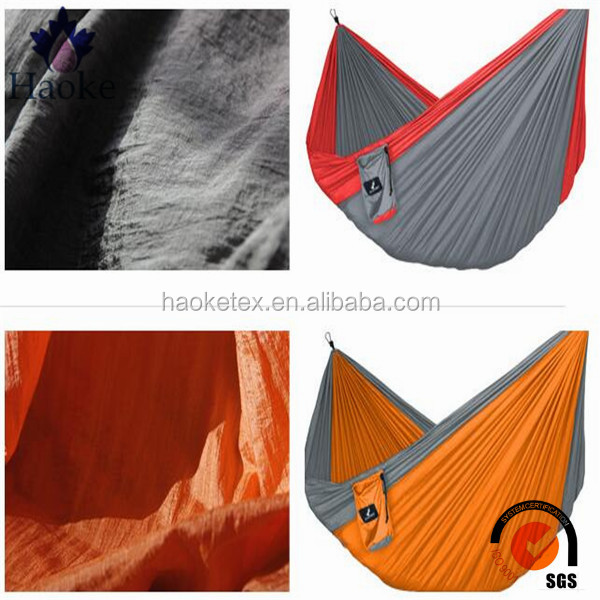 parachute fabric hammock / 100% <strong>nylon</strong> crinkled tear resistant fabric for hammock