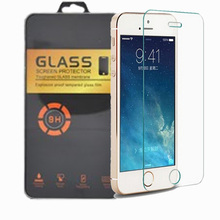 Hd premium  0.3mm 2.5d arc 9 h vetro e proprio film screen protector for  iphone 4 for iphone 4 s free shipping