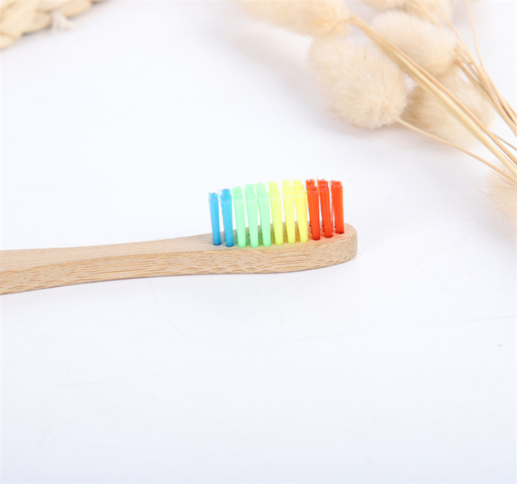100% biodegradable eco toothbrush rainbow bamboo toothbrush charcoal