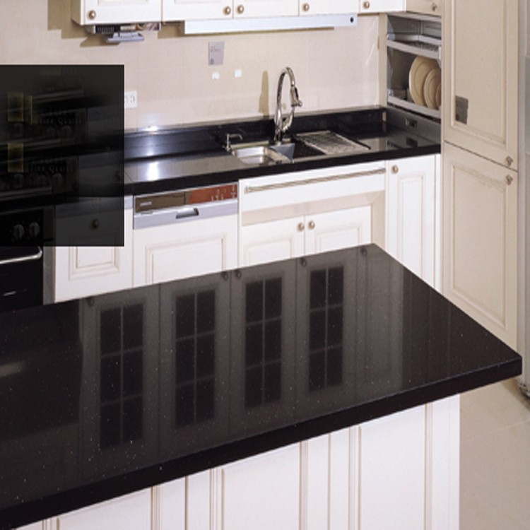 Black Quartz Precut Kitchen Bar Top Kitchen Top Countertop Buy Quartz Stone Bar Top Kitchen