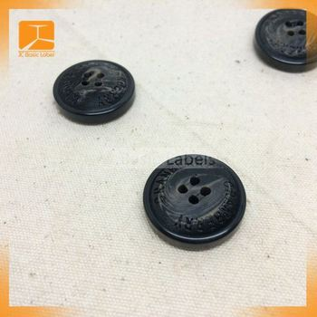 Mixed Color Round 4-Holes Eco-Friendly Resin Button