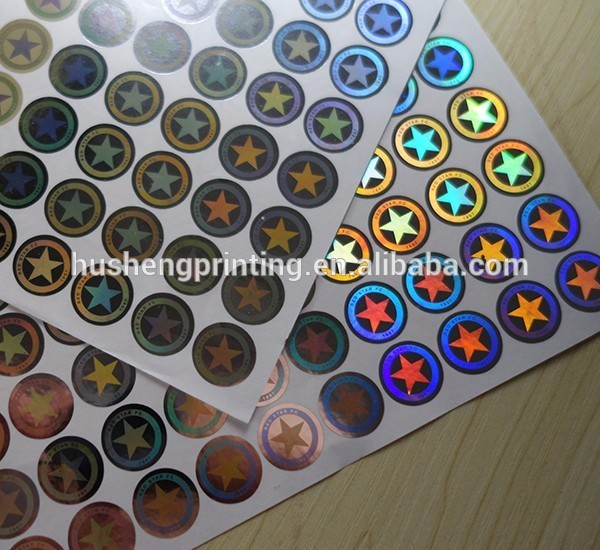 adhesive custom logo made printed round custom 3d laser hologram holographic sticker