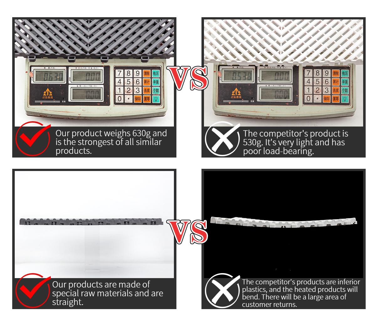Kunststof vloeren tegel, in elkaar grijpende kunststof vloertegels