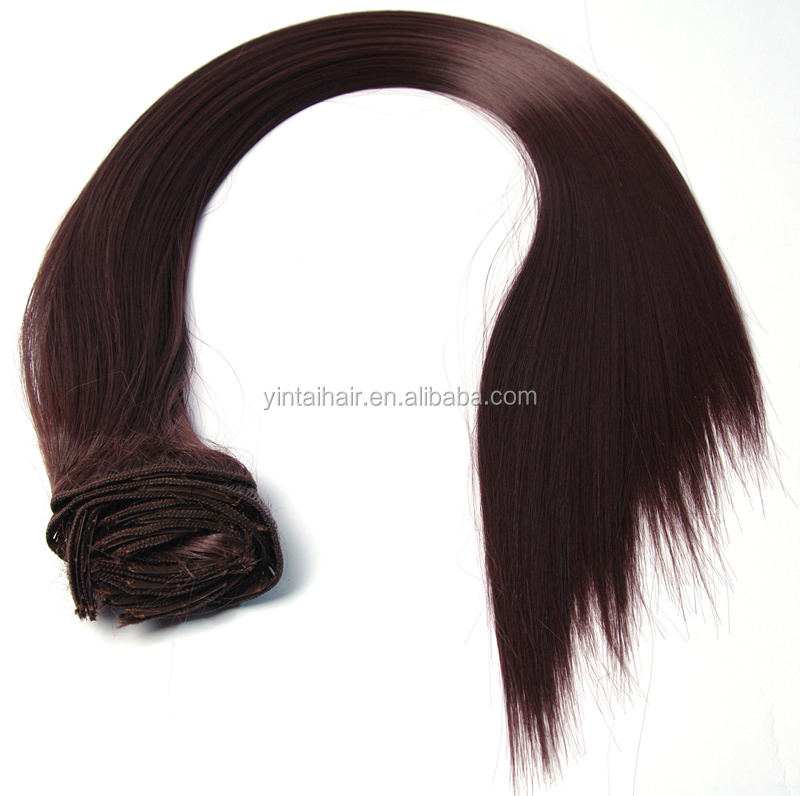 Synthetic hair extension synthtic clip in hair Factory Price colorful Clip on synthetic hair extensions Fashion women + butterf