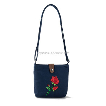 Promotional Small Canvas Crossbody Bag for Girls Women Sling Crossbody Bag 1a2d52e256911