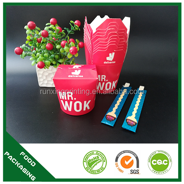 paper food pail , food packaging lunch box, takeaway noodle box
