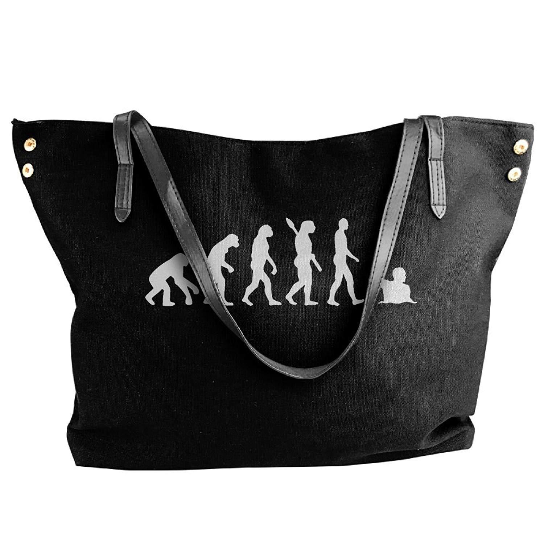 Get Quotations Women S Canvas Large Tote Shoulder Handbag Evolution Water Polo Hobo Bag