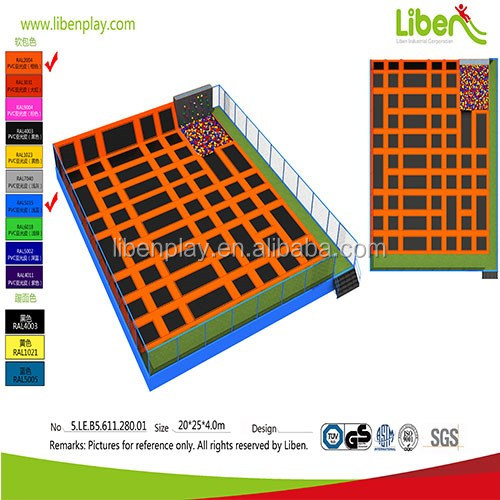 5.LE.B5.611.280.01 large kids foam pit climbing rock commercial indoor trampoline park