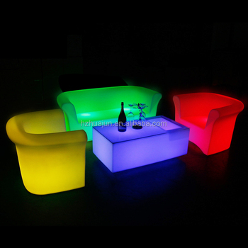 2019 Living Room lighting Sofa design and lighting coffee shop sofa set of led sofa chair