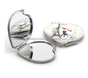 Custom pu make up mirror/compact mirror/pocket mirror