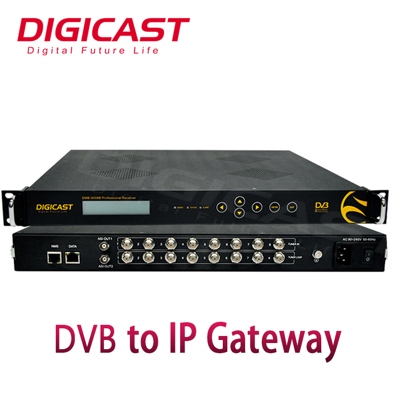 Digital TV Tuner Descrambler TV Terintegrasi Receiver Decoder ASI DVB-S2 IRD DVB untuk IP Gateway