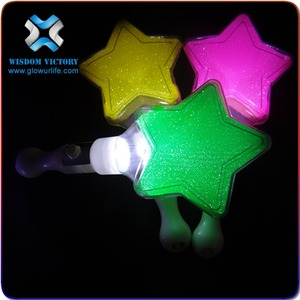 led star stick christmas Hot Sale Colorful LED Flashing Star Glow Light Stick For Concert And Party