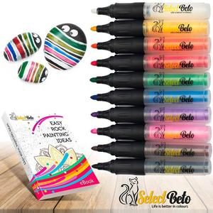 Acrylic Paint Markers Pen Art Permanent Paint Pens for Painting on Rock Easter Egg DIY Craft Projects