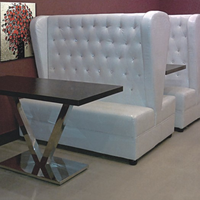 Button High Back Commercial Banquettes & Booths for Restaurant
