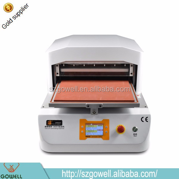 Mobile Phone Repair Equipment OCA LCD Vacuum Laminating Machine For Max 14 Inch Screen Lens