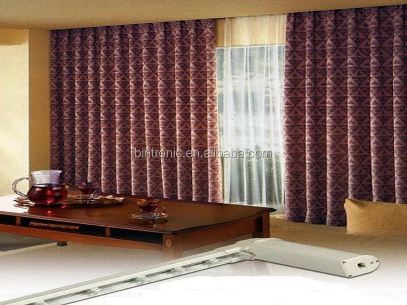 bintronic int rieur d coration rail de rideau motoris. Black Bedroom Furniture Sets. Home Design Ideas