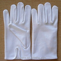 Pair Vintage Fownes White Cotton Girls Gloves