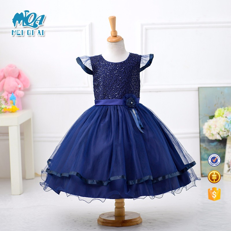 2017 New style summer children frock design for Baby-girls Party Dresses L15163