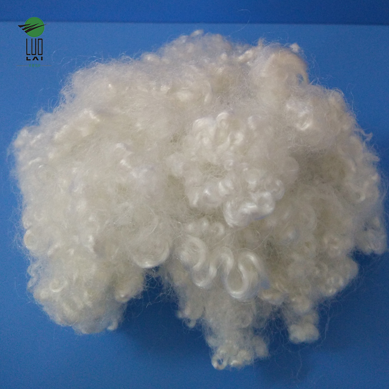 Good quality PET Bottles pure recycled colored polyester staple fiber psf for sale
