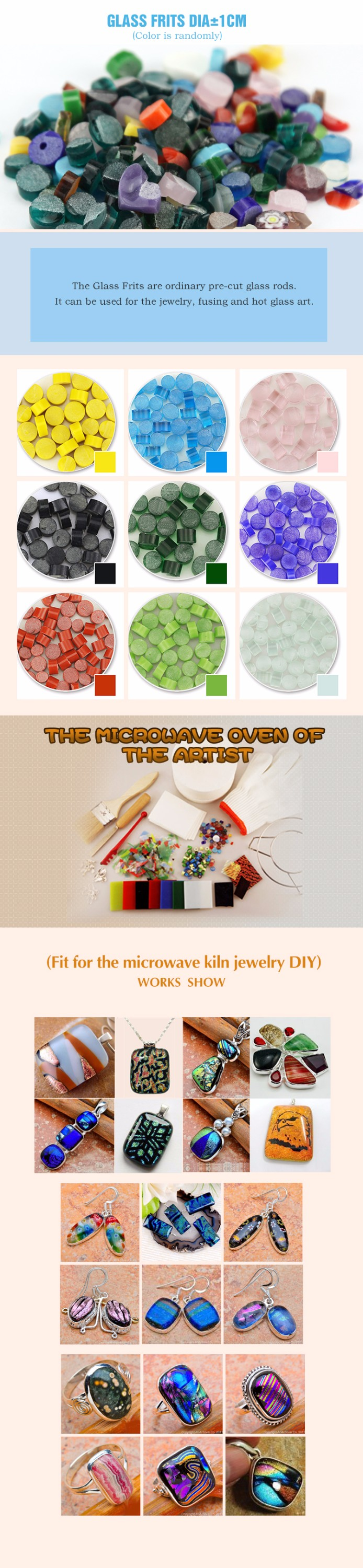 No.1707008-2 glass frit colours Special use in microwave kiln wholesale on alibaba