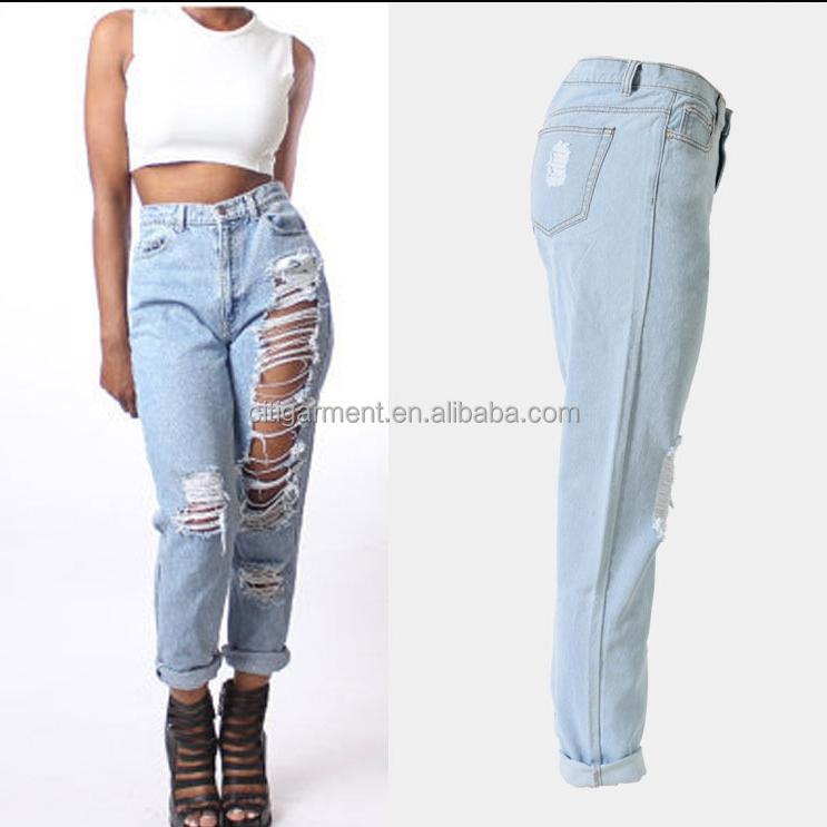 208b55401c Envío Gratuito Última Moda Mujeres Vaqueros Pantalones Casuales Pantalones  Slim Sexy Para Mujeres