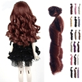 1PC Wig BJD Doll DIY High temperature Wire Handmade Curly Wigs Hair For Barbie Doll For