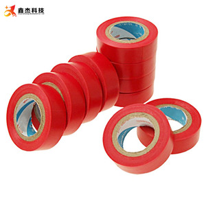 Red PVC Electrical Tape insulating jumbo log rolls