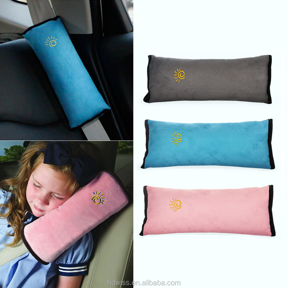 3 Colors Car Safety Seat Belt Soft Pillow For Child Kids