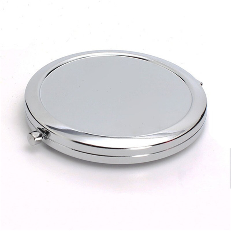 2018 New Style Small Size Blank Metal Compact Mirror Customized Logo Pocket Mirror