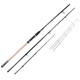 3.3/3.6/3.9m carbon fiber 3 tips spinning Feeder rod
