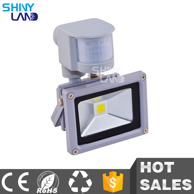 10w rechargeable metal outdoor housing solar pir sensor led <strong>flood</strong> light
