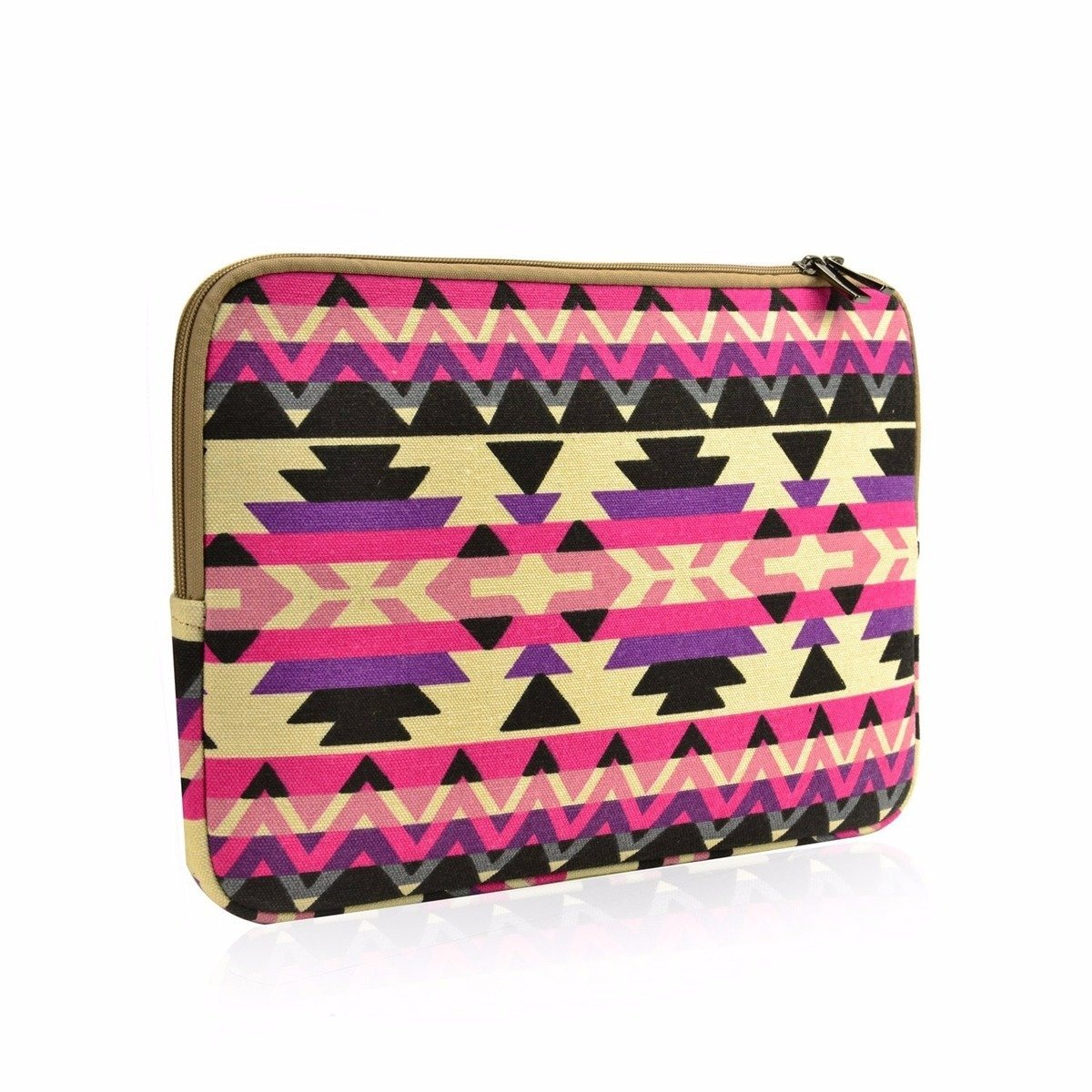 "Unik Case Abstract Pink Bohemian Zipper Laptop Sleeve Bag Case Cover for All 13"" 13-Inch Laptop Notebook / Macbook Pro / Macbook Unibody / Macbook Air / Ultrabook / Chromebook"
