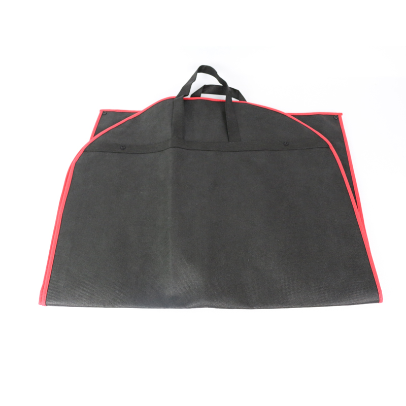 Black Custom Dustproof Hanger Coat Clothes Garment Storage Bags clothes Suit Cover