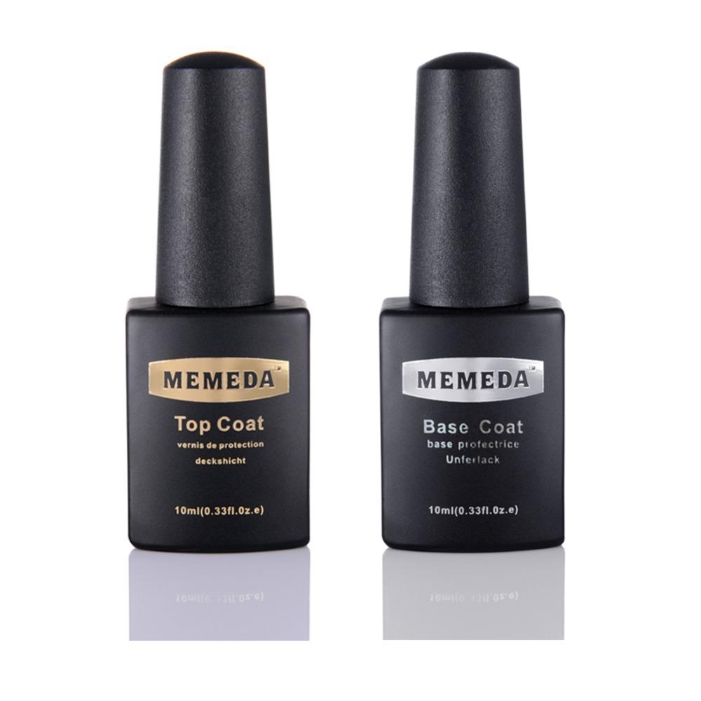 2pcs lot very shiny LED UV base coat top gel nail gel polish for nail art