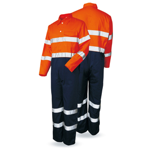 Hi-Vis Overalls Reflective Tapes Oxford 300gsm Men'S Uniform cheap hi vis workwear