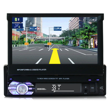 1Din Car Stereo Touch screen Radio Bluetooth GPS Navigation System Multimedia
