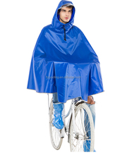 Promotional Rain Poncho Polyester Bicycle Thick Raincoat Men's Poncho with Reflective Tape Bicycle Rain coat