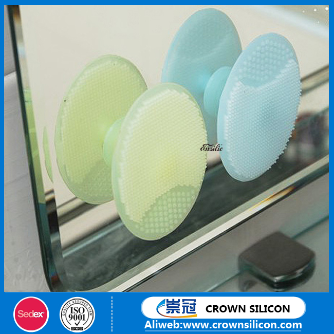 Promotional Gift Face Cleansing Brush Natural Silicone gel Electric Facial Cleansing Brush Rechargeable silicone face brush