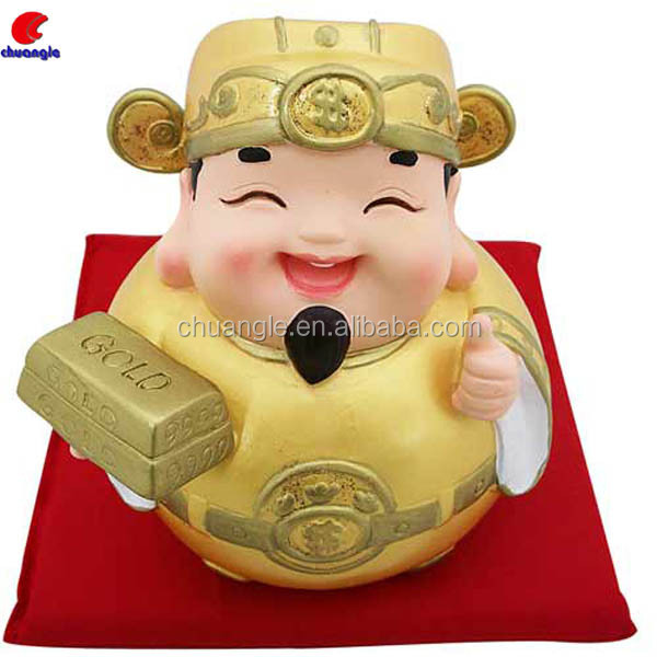 Chinese God Of Wealth Figurines, Fortune God Statues, Resin Custom Figure