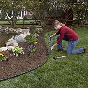 "Dimex E-Z Connect Multipurpose ""No-Dig"" Landscape and Paver Edging Project Kits"