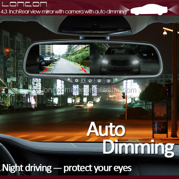 Car Vehicle Rearview Mirror Auto Dimming Digital Car Mirror With ...