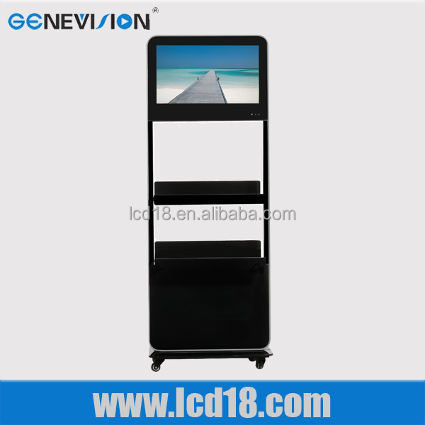22inch lcd advertising display floor standing kiosk indoor application <strong>manufacturing</strong>