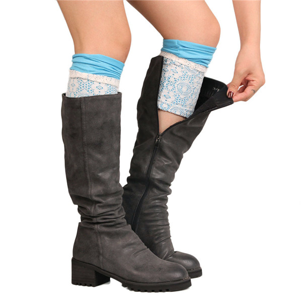 Women's Socks & Hosiery Hollow Leg Warmers For Women Above Knee Bud Boot Socks Crochet Boot Cuffs Gaiters Boot Toppers Womens Thigh High Leg Warmers Always Buy Good Leg Warmers