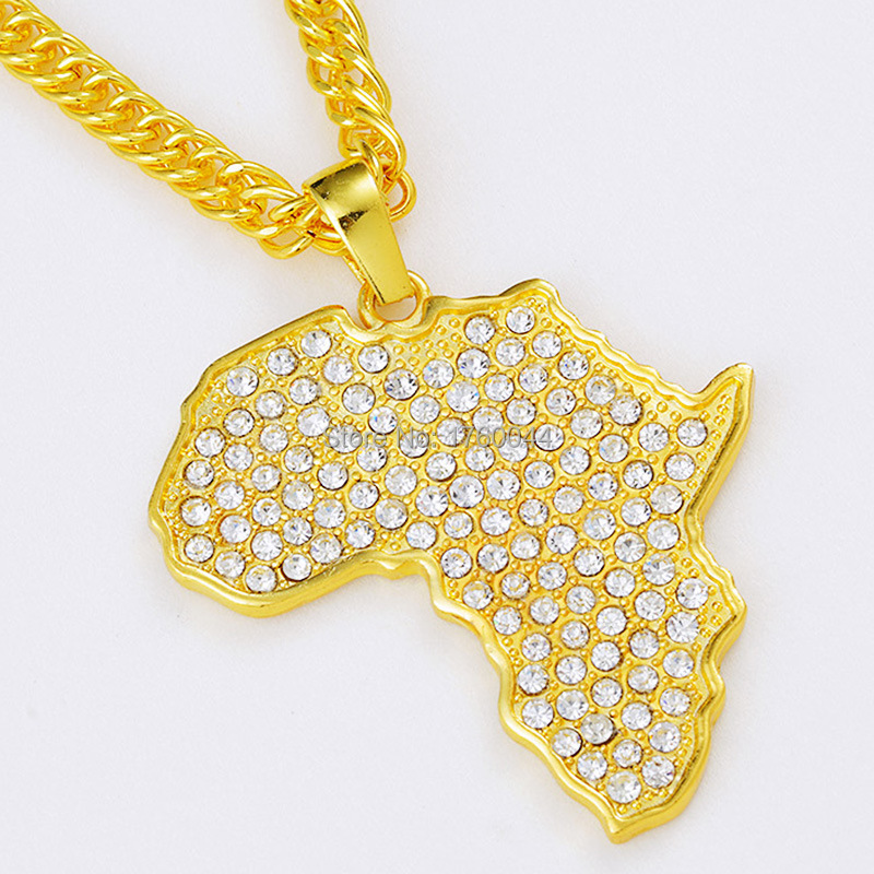 Cheap Gold Africa Map Pendant find Gold Africa Map Pendant deals on