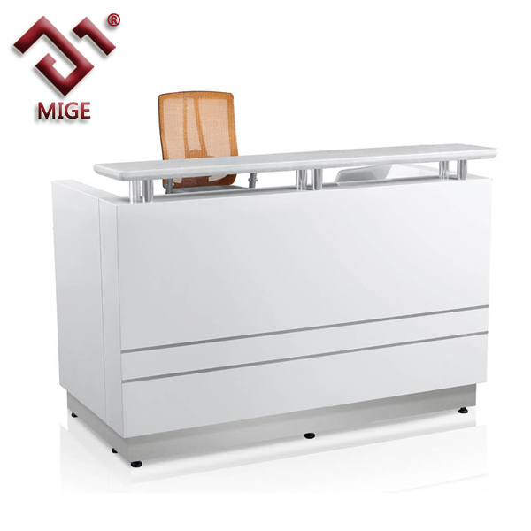 Elegant Metal Frame Small Salon Reception Desk - Buy Small Salon