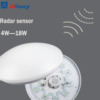 Warm White LED Ceiling Wall Surface Mount Microwave Motion Activated Smart LED Light with Sensor for Residential Commercial use