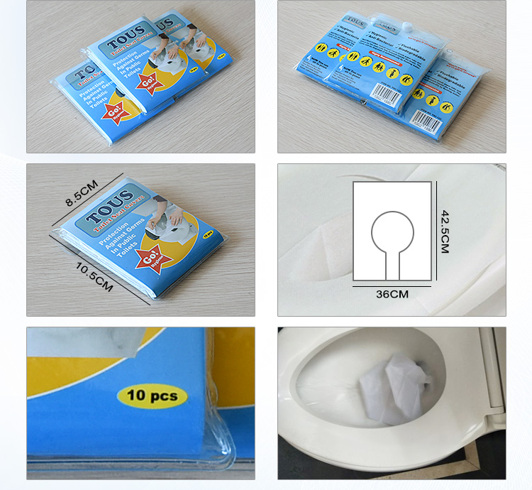 high quality disposable anti-bacterial paper toilet seat covers