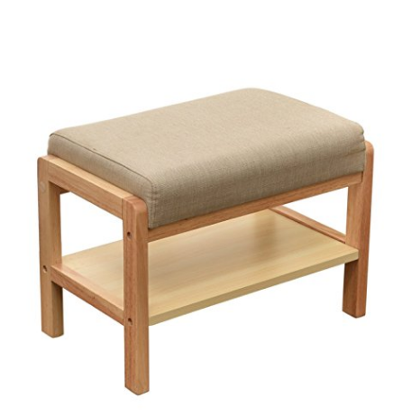 Wood Shoe Bench With Padded Seat COMFORTABLE SHOE BENCH CUSHION